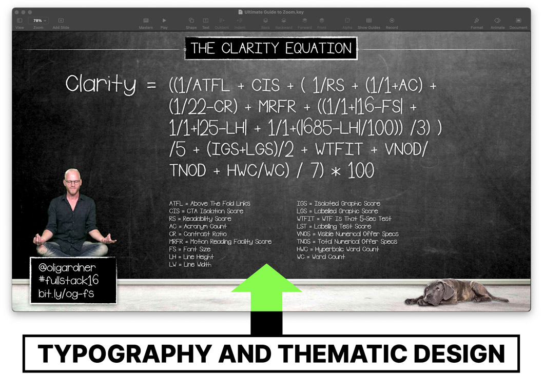 Typography and thematic slide design - Be the Keynote